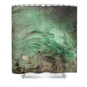 Green Texture Shower Curtain