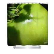 Green Tomato Shower Curtain