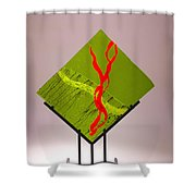 Green Touch Shower Curtain