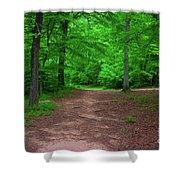 Green Trail Shower Curtain