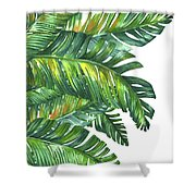 Green Tropic  Shower Curtain