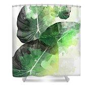 Green Tropical Shower Curtain