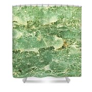 Green Turtiuus Shower Curtain