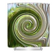 Green Twirl Shower Curtain