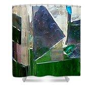 Green Vase Shower Curtain by Jamie Frier