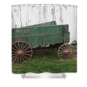 Green Wagon Shower Curtain