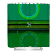 Green Water Shower Curtain