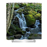 Green Waterfall Shower Curtain