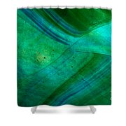 Green Wave Shower Curtain