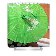 Green Western Day Shower Curtain