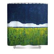 Green Wheat Field Shower Curtain