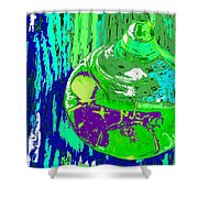 Green Whirl Shower Curtain