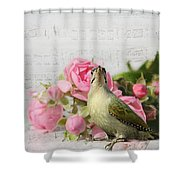 Green Woodpecker Stilllife Shower Curtain