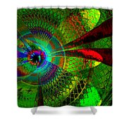 Green Worlds Shower Curtain