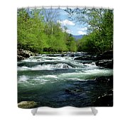 Greenbrier River Scene Shower Curtain