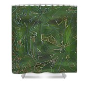Greenery In Green Shower Curtain