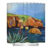 Greene's Live-forever On Santa Cruz Island Shower Curtain