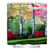 Greenfield Lake Garden Shower Curtain