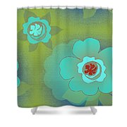 Greenfloral Shower Curtain