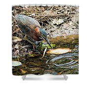 Greenie At Dusk Shower Curtain