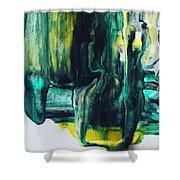 Greenish Shower Curtain