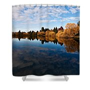Greenlake Fall Reflections Shower Curtain
