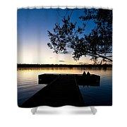 Greenlake Sunset Shower Curtain