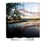 Greenlake Tranquility Shower Curtain