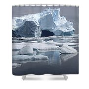 Greenland's Icebergs Shower Curtain