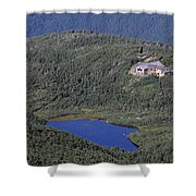 Greenleaf Hut - White Mountains New Hampshire  Shower Curtain by Erin Paul Donovan