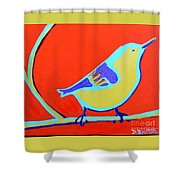 Greenough Nuthatch Shower Curtain
