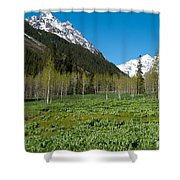 Greens And Blues Of The Maroon Bells Shower Curtain