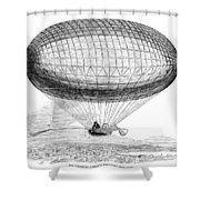 Greens Balloon, 1857 Shower Curtain