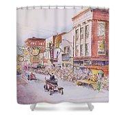 Greensboro Christmas Parade 1960 Shower Curtain