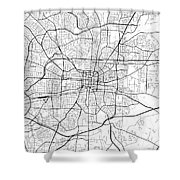 Greensboro North Carolina Usa Light Map Shower Curtain