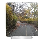 Greenway Trail In The Fall Shower Curtain