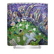 Greenwood Graveyard Brooklyn Shower Curtain