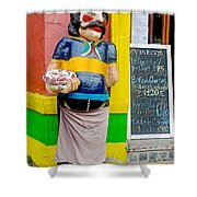 Greeter At Pizzeria In La Boca Area Of Buenos Aires-argentina- Shower Curtain
