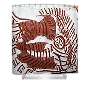 Greeting 1 - Tile Shower Curtain