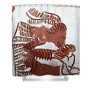 Greeting 2 - Tile Shower Curtain