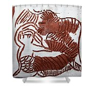 Greeting 3 - Tile Shower Curtain