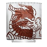 Greeting 4 - Tile Shower Curtain