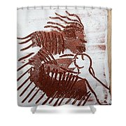 Greeting 8 - Tile Shower Curtain