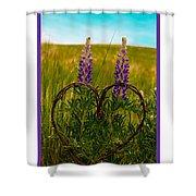 Greeting Card - Lupine Love Shower Curtain
