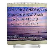 Greeting Card Pricing Info Shower Curtain