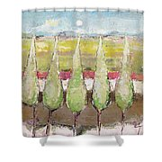 Greeting The Early Moon Shower Curtain