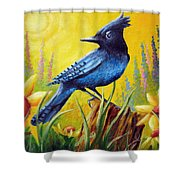 Greeting The Day Shower Curtain