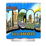 Greetings From Chicago Illinois Shower Curtain