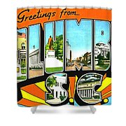 Greetings From Columbia South Carolina Shower Curtain