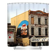 Greetings From Dystopia City -- Washington D C Shower Curtain